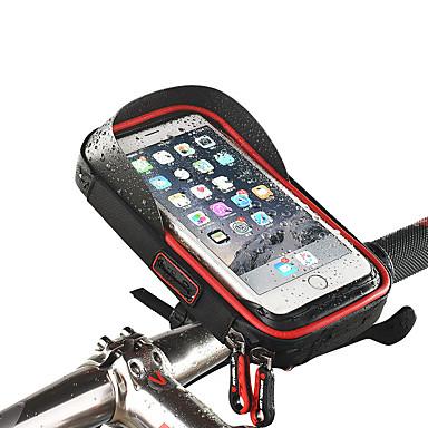 abordables Sacoches de Vélo-Wheel up Sac de téléphone portable Sacoche de Guidon de Vélo Ecran tactile Etanche Trou de casque Sac de Vélo TPU Éponge Nylon Sac de Cyclisme Sacoche de Vélo iPhone X / iPhone XR / iPhone XS Vélo