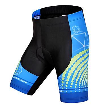 WOSAWE Unisex Fôrede sykkelshorts Sykkel Shorts / Fôrede shorts / Bunner 3D Pute, Fort Tørring, Anatomisk design Polyester, Spandex, Silikon Blå og svart Sykkelklær / Pustende / Elastisk / Pustende