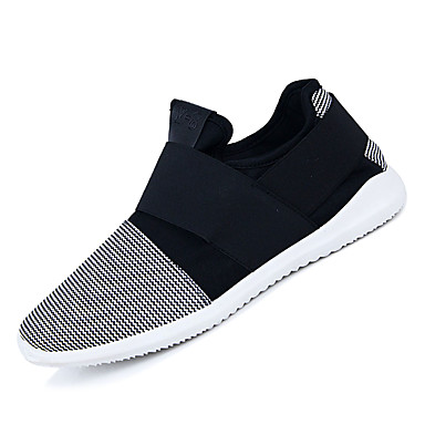 Men's Comfort Shoes Elastic Fabric Color Fall Casual Sneakers Non-slipping Color Fabric Block White / Black / Gray 419cdd
