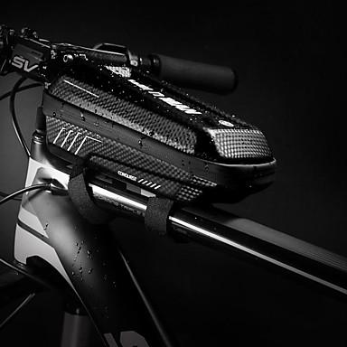 abordables Sacoches de Vélo-Sac de cadre de vélo Réfléchissant Etanche Portable Sac de Vélo faux cuir EVA Sac de Cyclisme Sacoche de Vélo Cyclisme Vélo Cyclisme