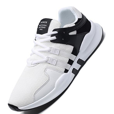 Men's Comfort Shoes Mesh / PU(Polyurethane) Summer Casual Athletic Shoes Black Running Shoes White / Black Shoes / Black / White ca004b