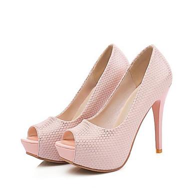 Women's Spring Pumps PU(Polyurethane) Spring Women's Heels Stiletto Heel Pink eb39cf