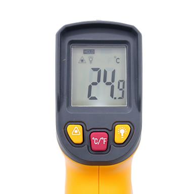 voordelige Test-, meet- & inspectieapparatuur-digitale infraroodthermometer -50 - 400 graden niet-contact ir rode lasertemperatuurmeter hy45