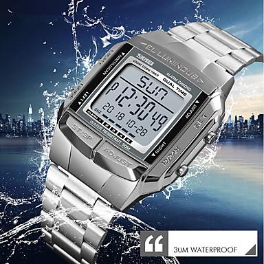 8b5475f5327 baratos Relógios Vestido-SKMEI Homens Relógio Elegante Relógio de Pulso  Relogio digital Japanês Digital Aço