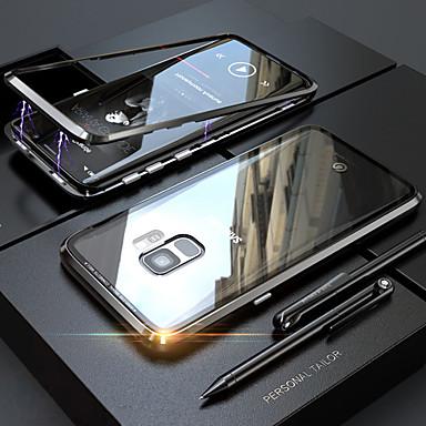 Χαμηλού Κόστους Ηλεκτρονικά είδη καταναλωτή-tok Για Samsung Galaxy S9 / S8 Ημιδιαφανές / Μαγνητική Πλήρης Θήκη Μονόχρωμο Σκληρή Ψημένο γυαλί / Μεταλλικό για S9 / S9 Plus / S8 Plus