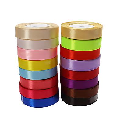 Συμπαγές Χρώμα Σατέν Κορδέλες γάμου Piece / Σετ Σατέν Κορδέλα Διακοσμήστε την βάση μπομπονιέρας Διακοσμήστε την συσκευασία δώρου