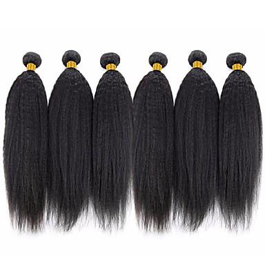 levne Prameny přírodních vlasů-6 svazků Brazilské vlasy Rovné, bláznivé 8A Přírodní vlasy Lidské vlasy Vazby Bundle Hair Jeden balíček Solution 8-28 inch Přírodní Přírodní barva Lidské vlasy Vazby Hedvábný povrch Hladký rozšířením
