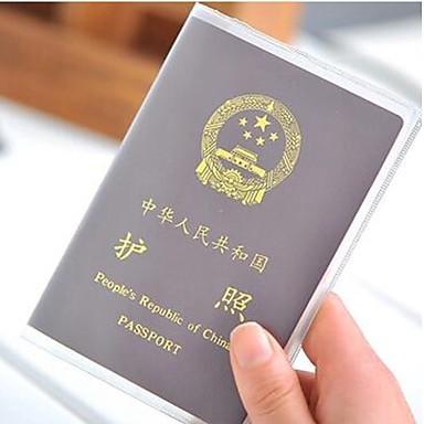 Недорогие Хранение и организация-2pc шлифовать прозрачную крышку паспорта водонепроницаемый держатель карточки pvc id паспорта мешок защитный рукав