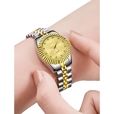 cheap Women's Watches-Women's Luxury Watches Wrist Watch Gold Watch Quartz Stainless Steel Silver 30 m Creative New Design Analog - Digital Ladies Fashion Elegant - Gold White Black