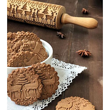 halpa Leivontavälineet-1kpl Puu Christmas Tulokas Cookie Animal Kaulin Bakeware-työkalut