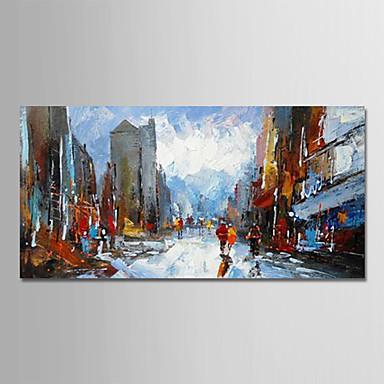 Hang oslikana uljanim bojama Ručno oslikana - Pejzaž Moderna Bez unutrašnje Frame / Valjani platno