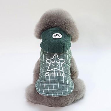 Psi Kaputi Odjeća za psa Uglađeni Slogan Sive boje Zelen Pamuk Kostim Za Buldog Shiba Inu Mops (Pug) Jesen Zima Uniseks Ležerno / za svaki dan Grijači