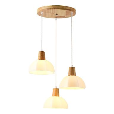 QINGMING® 3-Light Mini Lusteri Downlight Drvo Wood / Bamboo Glass Mini Style 110-120V / 220-240V