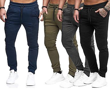 266d718b06eb2 Hombre Acordonado Pantalones de chándal Gris oscuro Verde Ejército Azul  Marino Oscuro Deportes Rayas Prendas de