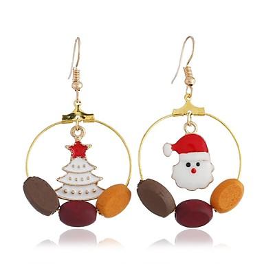 voordelige Oorbellen-Dames mismatched Mismatch oorbellen oorbellen Kerstmanpakken Kerstboom Dames Eenvoudig Zoet Sieraden Goud Voor Kerstmis Dagelijks 1 paar
