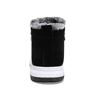 Homme Bottes Automne de neige Matière synthétique Automne Bottes hiver Classique / Décontracté Bottes Garder au chaud Bottine / Demi Botte Noir / Gris / Noir / blanc 619103