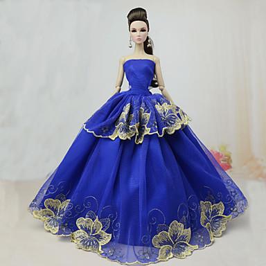 Festa / Noite Vestidos Para Boneca Barbie Poliéster Vestido Para Menina de Boneca de Brinquedo
