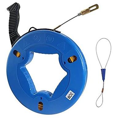 preiswerte Relais & Leitungen-Glasfaserdrahtseilfischband Fiberglaswandlinie Rollenfischbandziehgerät-5/32-Zoll breit98.4-Fuß