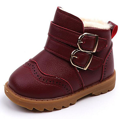 3698f919f Chico   Chica Zapatos PU Otoño invierno Confort   Botas de nieve Botas  Cinta Adhesiva para Niños   Bebé Negro   Marrón   Borgoña   Botines   Hasta  el ...