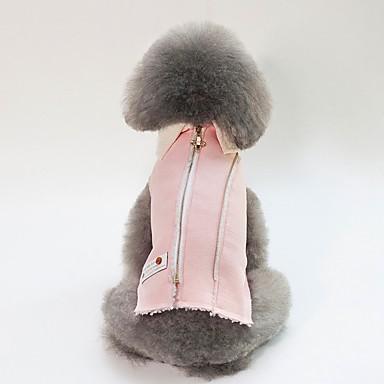 Psi Mačke Zakó Odjeća za psa Lik Uglađeni Plava Pink Pamuk Kostim Za Buldog Shiba Inu Mops (Pug) Jesen Zima Uniseks Grijači Simple Style