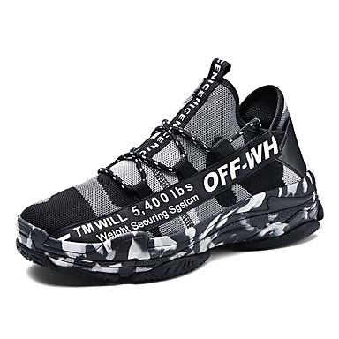 Muškarci Udobne cipele Mrežica / Sintetika Proljeće ljeto Ležerne prilike Sneakers Prozračnost Obala / Crn / Zelen