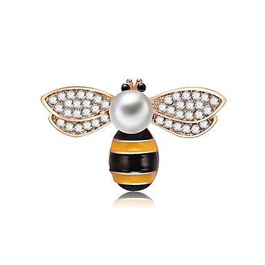 Žene Slatkovodni biser Broševi Križ tijelo Pčela dame Crtići Romantični slatko Broš Jewelry Izabrane Boja Za Rad Klub