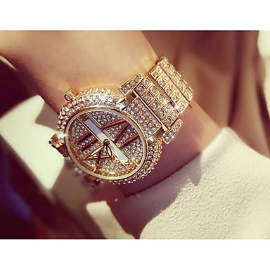 3dedccfe3000 Mujer Reloj de Pulsera Cuarzo Plata   Dorado La imitación de diamante  Analógico Moda - Dorado Plata   Acero Inoxidable