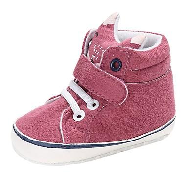 voordelige Babyschoenentjes-Jongens / Meisjes Comfortabel / Eerste schoentjes Katoen Laarzen Peuter (9m-4ys) Veters / Magic tape Bruin / Blauw / Roze Lente & Herfst / Winter