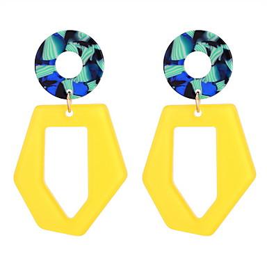 608abd7b6ed4 Mujer Geométrico Pendientes colgantes Aretes damas Elegante Simple Diseño  Único Joyas Blanco   Amarillo Para Fiesta Casual 1 Par