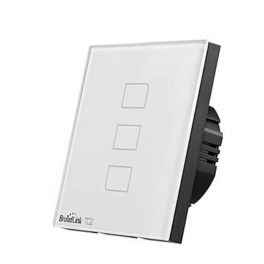 BroadLink Smart prekidač TC2 3gang-EU za Dnevna soba / Studija / Spavaća soba APP kontrola / WIFI kontrolu / inteligentan 170-240 V