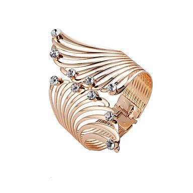 abordables Bracelet-Manchettes Bracelets Large bracelet Femme Rétro Strass dames Punk Hyperbole Mode Bracelet Bijoux Dorée Forme de Cercle pour Carnaval Plein Air Bar
