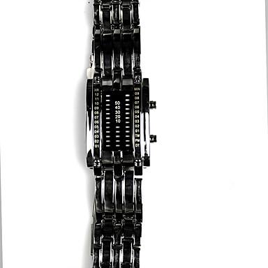 voordelige Herenhorloges-Heren Digitaal horloge Japans Kwarts Zwart / Zilver 30 m Waterbestendig Digitaal Luxe - Zwart Zilver Twee jaar Levensduur Batterij / Roestvrij staal