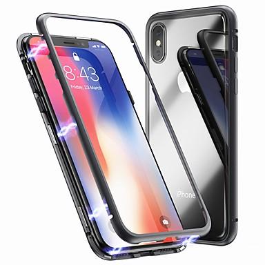 billige iPhone-etuier-Etui Til Apple iPhone XS / iPhone XR / iPhone XS Max Stødsikker / Magnetisk Bagcover Ensfarvet Hårdt Tempereret glas