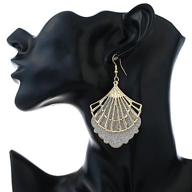 Žene Viseće naušnice dame Stilski Klasik Naušnice Jewelry Zlato / Crn Za Dnevno 1 par