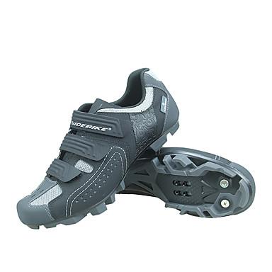 رخيصةأون أحذية ركوب الدراجة-SIDEBIKE للبالغين Mountain Bike Shoes متنفس مكافح الانزلاق توسيد أخضر / الدراجة دراجة رمادي رجالي أحذية الدراجة / تهوية / تهوية / هوك وحلقة