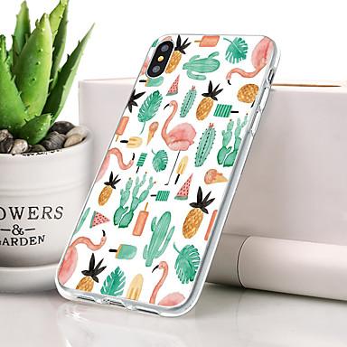 ケース 用途 Apple iPhone XS Max 超薄型 / パターン バックカバー フラミンゴ / 動物 ソフト TPU