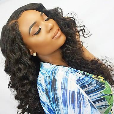 Remy kosa Netretirana  ljudske kose Lace Front Perika stil Brazilska kosa Wavy Valovita kosa Natural Perika 130% Gustoća kose s dječjom kosom Prirodna linija za kosu Afro-američka perika Za crnkinje