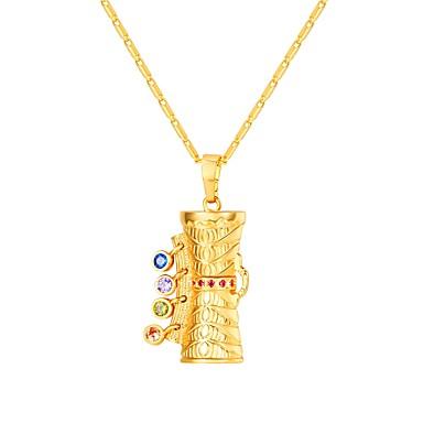 Žene Više boja Kubični Zirconia Ogrlice s privjeskom kameja dame Etnikai Moda Kamen Zlato 55 cm Ogrlice Jewelry 1pc Za Dar Dnevno