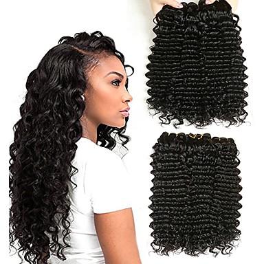 6 paketića Indijska kosa Duboko Val Ljudska kosa Ljudske kose plete Styling kose Bundle kose 8-28 inch Natural Prirodna boja Isprepliće ljudske kose Dar Svilenkast Smooth Proširenja ljudske kose