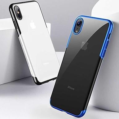 Pouzdro Uyumluluk Apple iPhone XR / iPhone XS Max Şoka Dayanıklı / Kaplama / Ultra İnce Arka Kapak Solid Yumuşak TPU için iPhone XS / iPhone XR / iPhone XS Max