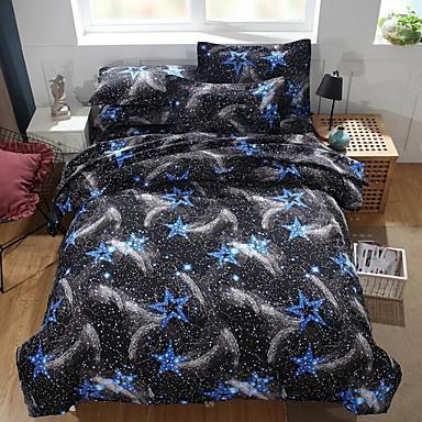 ensembles housse de couette g om trique polyester. Black Bedroom Furniture Sets. Home Design Ideas