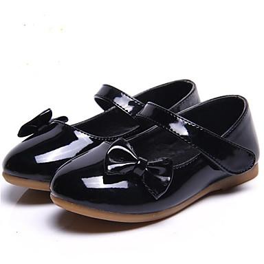 voordelige Babyschoenentjes-Meisjes Comfortabel PU Platte schoenen Peuter (9m-4ys) / Little Kids (4-7ys) Zwart / Rood / Roze Lente / Herfst