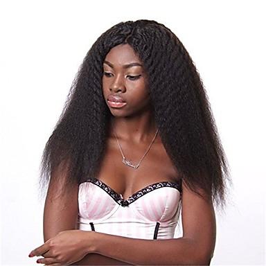 Premierwigs Echthaar Spitzenfront Perücke Glatt Perücke 130% Haardichte Natürlicher Haaransatz Afro-amerikanische Perücke 100 % von Hand geknüpft Damen Mittlerer Länge Lang Echthaar Perücken mit
