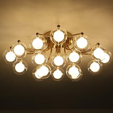 ZHISHU ดาวเทียมของรัสเซีย / ทางเรขาคณิต ไฟระย้า Ambient Light ชุบโลหะด้วยไฟฟ้า โลหะ แก้ว LED, ดีไซน์มาใหม่ 110-120โวลล์ / 220-240โวลต์ วอมไวท์ / ขาว