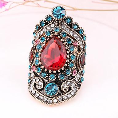 Žene Prsten 1pc Zlato Umjetno drago kamenje Legura Nepravilan dame Neobično Azijski Dnevno Jewelry Vintage Style Obrtnik magija
