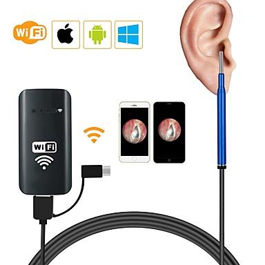 3.9mm 3 in 1 wifi kutija usb hd vizualni endoskop ušna žlica fotoaparat otoscope borescope alat 1500mm - plava