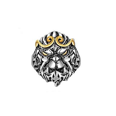 Muškarci Prsten Kubični Zirconia 1pc Srebro Kubni Luksuz Vjenčanje Party Jewelry Klasičan Csillag Cool