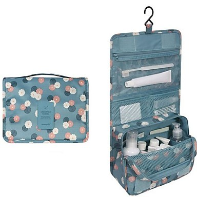 billige Vesker-Vanntett polyester Glidelås Kosmetisk Bag Daglig Himmelblå / Rosa / Mørkerød