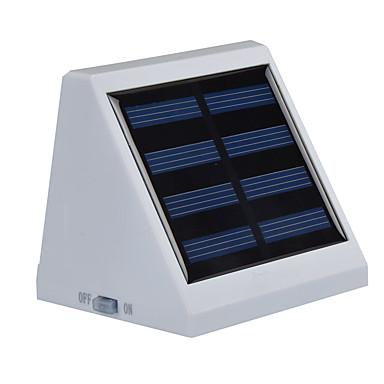 billige Utendørsbelysning-1pc utendørs solenergi drevet 4 hvit ledet vegg hage landskap gjerde lys lampe