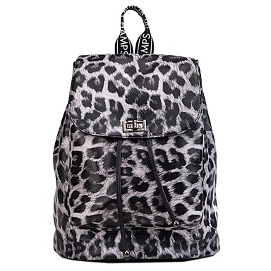 Women s Bags PU(Polyurethane) Backpack Zipper Geometric Pattern Black    Milky White   Khaki cbabc80e8a847